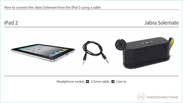 How to connect the Jabra Solemate from the iPad 2 using a cable