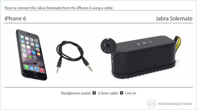 How to connect the Jabra Solemate from the iPhone 6 using a cable
