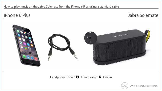 How to play music on the Jabra Solemate from the iPhone 6 Plus using a standard cable