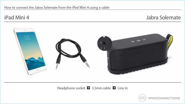 How to connect the Jabra Solemate from the iPad Mini 4 using a cable