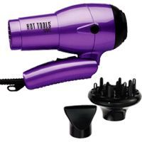 What is the best folding dual voltage travel hair dryer with a diffuser attachment for Kuwait?