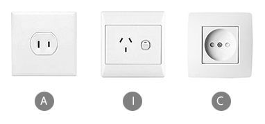 Which plug adapter do you need to bring for using a curling iron in China?