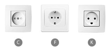 What plug sockets are used in Guinea?