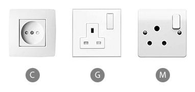 Which plug adapter do you need to bring when using a clothes iron in Singapore?