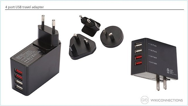 What is the best travel adapter for recharging a Kindle Fire in Togo?