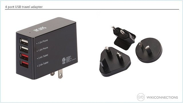 What is the best travel adapter for recharging a Kindle Fire in Gibraltar?