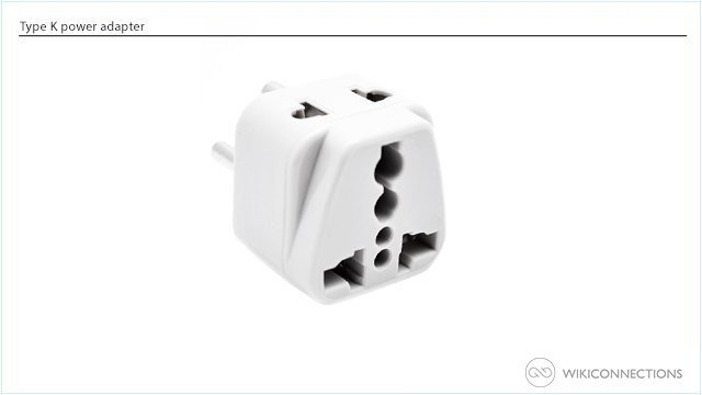 Which travel adapter do you need to bring for using a clothes iron in Denmark?